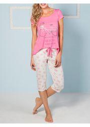 Pijama-capri-manga-curta-t-bike-flowers