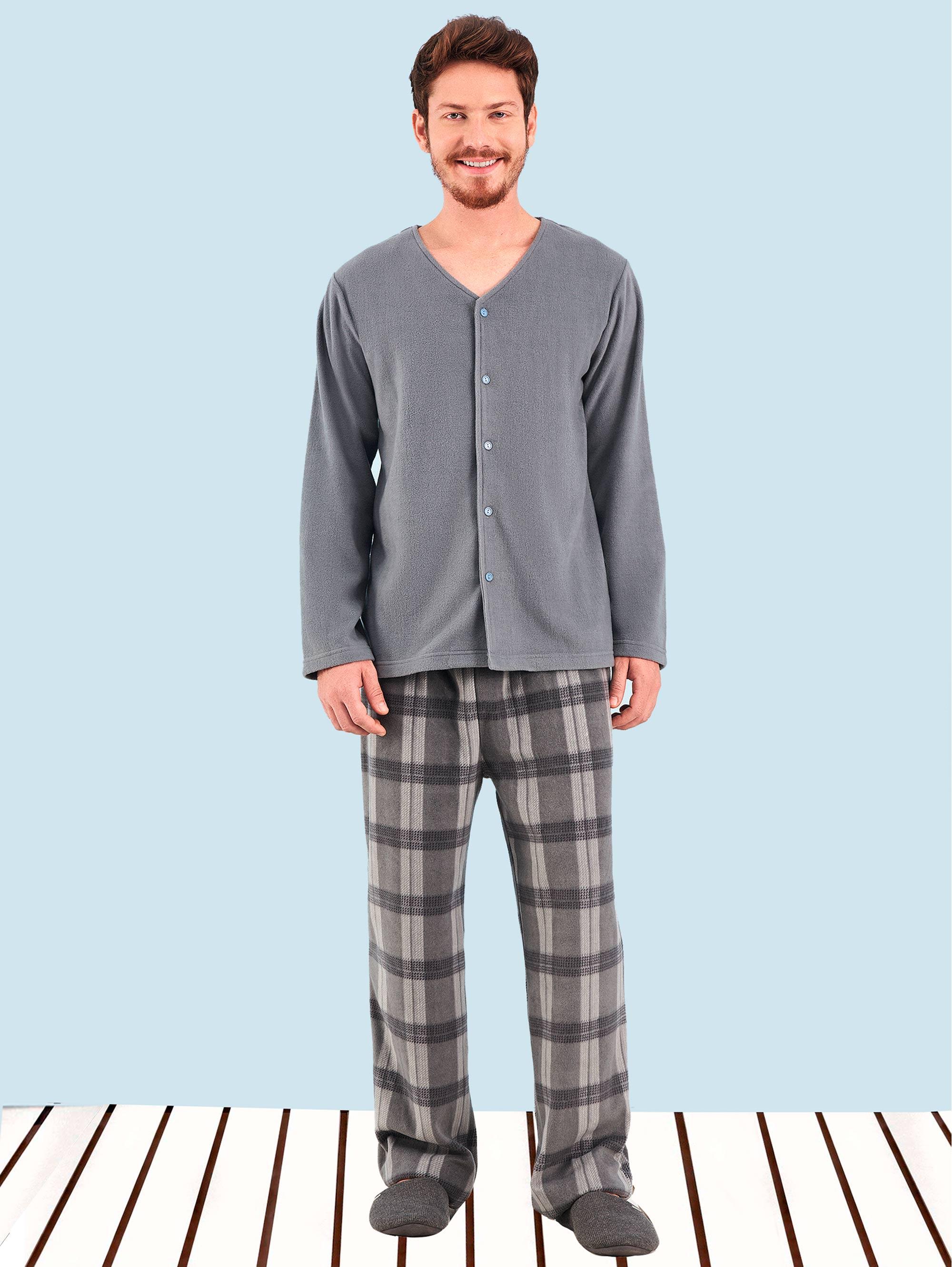 1ac4a2cc56 Pijama Manga Longa Soft Aberto Bryan