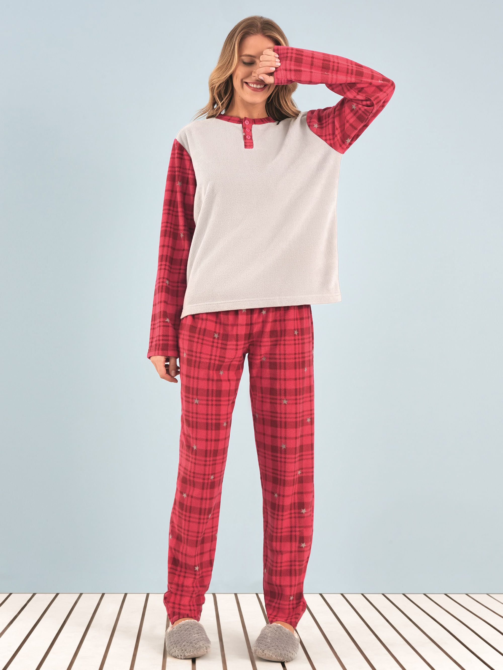 0e47204648 anyany 2019 · Pijamas · Soft. pijama-soft-red-xadrez. Pijama Manga Longa ...