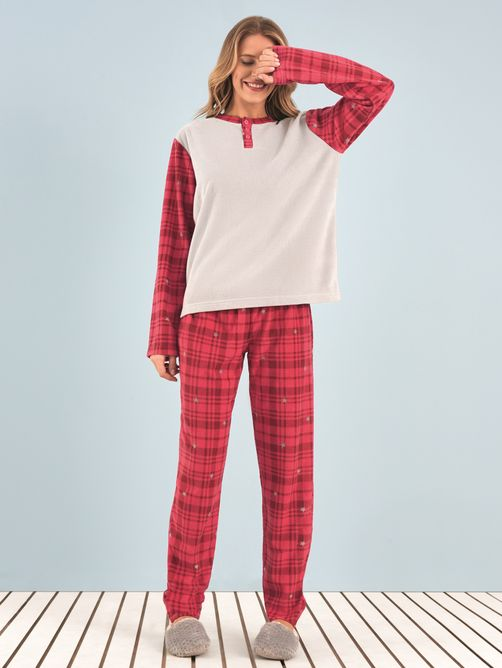 pijama-soft-red-xadrez