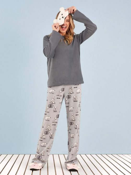 pijama-manga-longa-soft-urso-frases