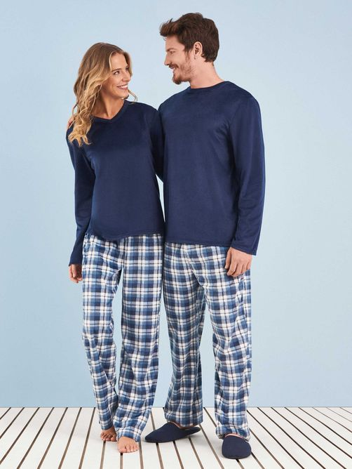 Pijama-Longo-Manga-Longa-Soft-Feminino-Blue-Couple--Any-Any