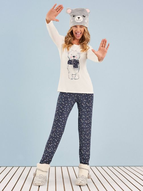 Pijama-Longo-Manga-Longa-Winter-Bear-Any-Any