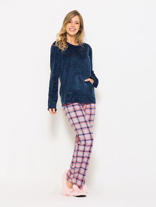 Pijama-Longo-Manga-Longa-Soft-Feminino-Coral-Chess-04.01.1520